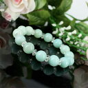 Natural stone amazonite 6mm power stone bracelet (natural stone bracelet) [YY] [nature stone breath red]