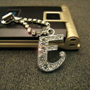 Luxurious gleam ☆ crystal initial carrying strap /E