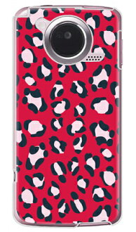 Leopard red (clear) design by REVOLUTION OF THE MIND / for ARROWS Kiss F-03D/docomo case cover /