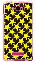 【スマホケース スマホカバー】スター TYPE2 ブラック×イエロー (ソフトTPUクリア) / for AQUOS PHONE Xx mini 303SH/SoftBank【ケース/カバー/CASE/ケ-ス】【スマートフォン ケース カバー】【日本製 SECOND SKIN】