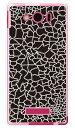 【スマホケース スマホカバー】CRACK ブラック (ソフトTPUクリア) / for AQUOS PHONE Xx mini 303SH/SoftBank【ケース/カバー/CASE/ケ-ス】【スマートフォン ケース カバー】【日本製 SECOND SKIN】