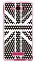 【スマホケース スマホカバー】Cross dot union jack ブラック (ソフトTPUクリア) design by ROTM / for AQUOS PHONE Xx mini 303SH/SoftBank【ケース/カバー/CASE/ケ-ス】【スマートフォン ケース カバー】【日本製 SECOND SKIN】