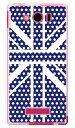 【スマホケース スマホカバー】Cross dot union jack ネイビー (ソフトTPUクリア) design by ROTM / for AQUOS PHONE Xx mini 303SH/SoftBank【ケース/カバー/CASE/ケ-ス】【スマートフォン ケース カバー】【日本製 SECOND SKIN】