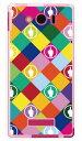【スマホケース スマホカバー】F rhombuses マルチ (ソフトTPUクリア) design by ROTM / for AQUOS PHONE Xx mini 303SH/SoftBank【ケース/カバー/CASE/ケ-ス】【スマートフォン ケース カバー】【日本製 SECOND SKIN】