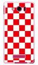 【スマホケース スマホカバー】チェッカーフラッグ レッド×ホワイト (ソフトTPUクリア) / for AQUOS PHONE Xx mini 303SH/SoftBank【ケース/カバー/CASE/ケ-ス】【スマートフォン ケース カバー】【日本製 SECOND SKIN】