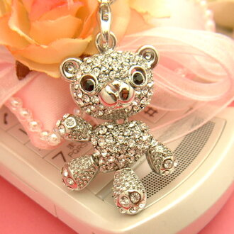 The pets present ♪ ☆ Super sparkly Swarovski Winnie Chan cell phone strap