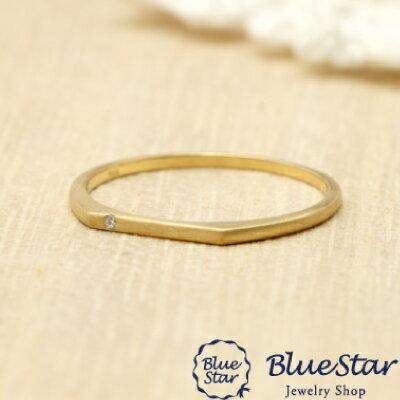 つや消しのゴールドリング。大人の雰囲気を感じさせるシンプルな指輪 キラキラ宝石店 BlueStar つや消しのゴールドリング