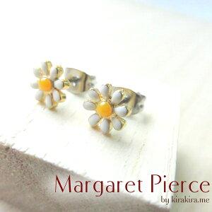 ピアス マーガレット フラワー 花のピアス 繊細で華奢
