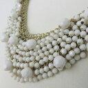 珠寶, 手錶 - シャンデリアショートネックレス(ミルクホワイト系)華やか、結婚式、パーティーに、カジュアルにもレディースアクセサリー メール便送料無料母の日 クリスマス