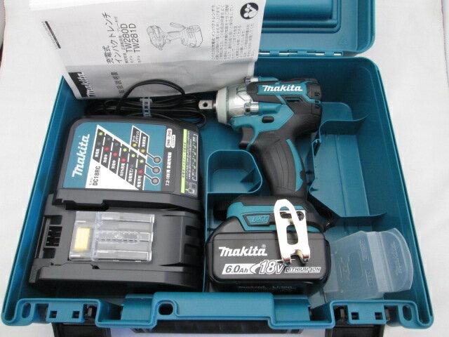 マキタ 18V 充電式インパクトレンチ TW281D型 【6.0Ah電池1個仕様】