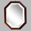 イタリア製 八角ミラー 壁掛け 鏡 トイレや玄関にピッタリ! おしゃれ 壁掛け アンティーク風 八角形 鏡 [セール]【あす楽】