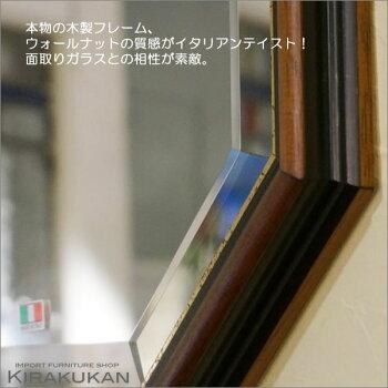 イタリア製八角ミラー壁掛け鏡トイレや玄関にピッタリ!おしゃれ壁掛けアンティーク風八角形鏡[セール]