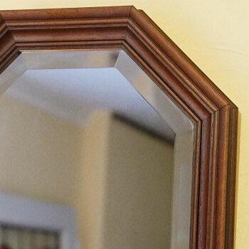 イタリア製八角ミラー壁掛けアンティーク風開運鏡【あす楽】[セール]