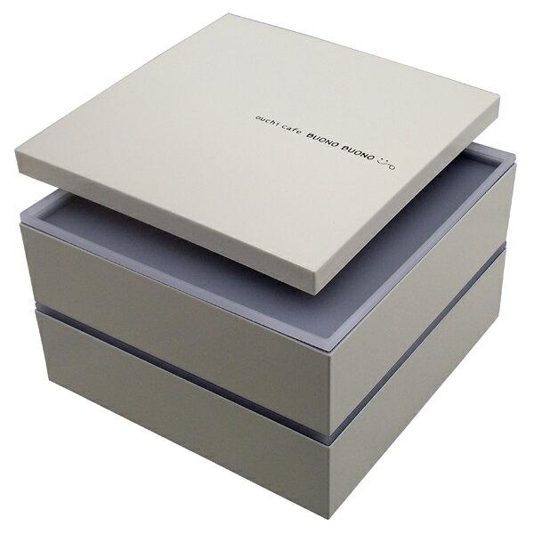 【重箱 おしゃれ】重箱 2段 仕切り購入可能 ボーノ ホワイト シール蓋付【あす楽対応】か…...:kirakuya-webshop:10001929