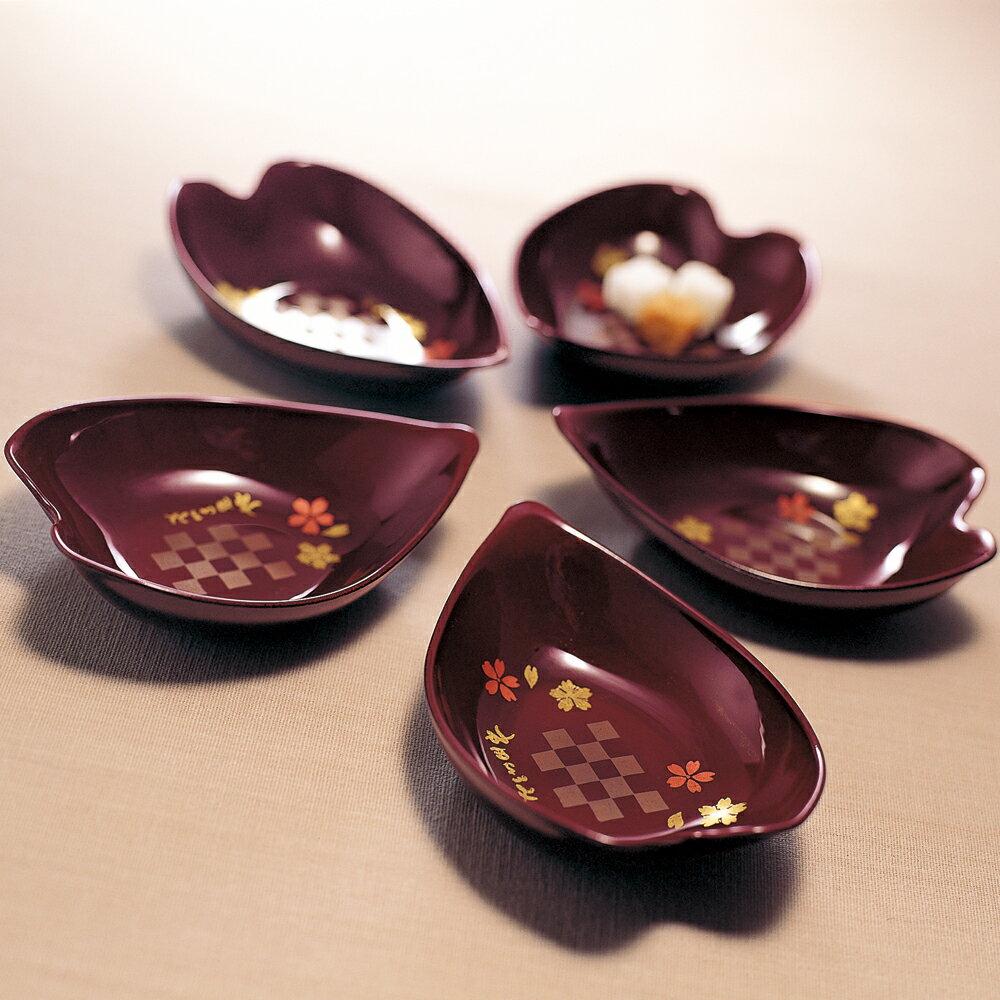 期間限定50%OFF小鉢桜型みその5個セットお皿小皿食器漆器