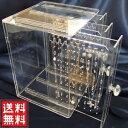 アクセサリー 収納 ケース ジュエリーボックス アクセサリーボックス ジュエリーケース 大容量 3列 ネックレス ピアス イヤリング アクセサリー ジュエリー収納 ガラス より安全な アクリル製