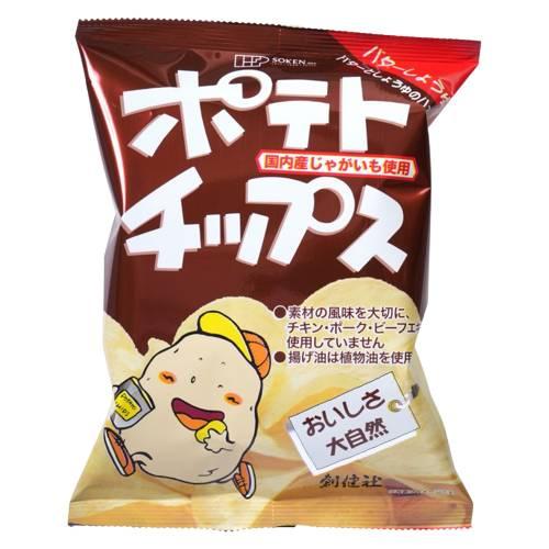【創健社】ポテトチップス バターしょうゆ味 60g ※20個以上で別途送料必要
