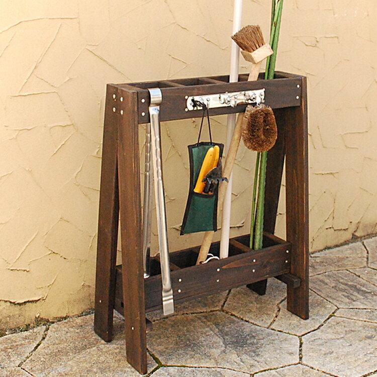 ガーデンツールスタンドツールスタンドガーデンガーデニングツールラックエクステリア収納スタンド木製おし