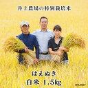 庄内米 山形県鶴岡市 井上農場の特別栽培米【はえぬき】白米 1.5kg