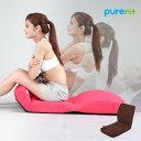 【クーポンあり】purefit ピュアフィット 腹筋のびのび座椅子 PF2500 S字ラインがすっきり伸びて美姿勢に 腹筋の運動ができる14段階リクライニング エクササイズ 猫背も伸ばす座いす メーカー直送