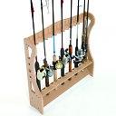 【クーポンあり】ロッドスタンド14本用[釣りが好きな方におすすめ!フライロッドなど自慢のロッド(釣りざお)を収納しながらディスプレイできるスタンド(釣竿木製飾り棚)釣竿収納ラック]【即納】