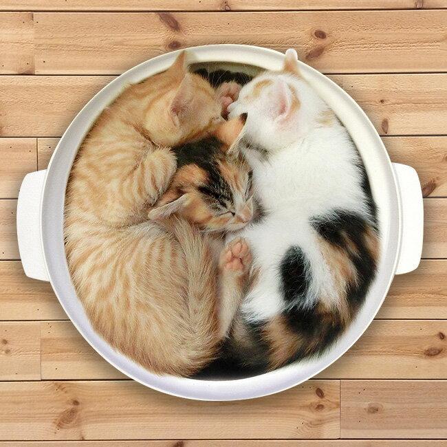 土鍋型ネコベッドWG-001M[猫犬冬ベッドかわいいユニーク土鍋型鍋型あったか電気ヒーター内蔵電気ヒ