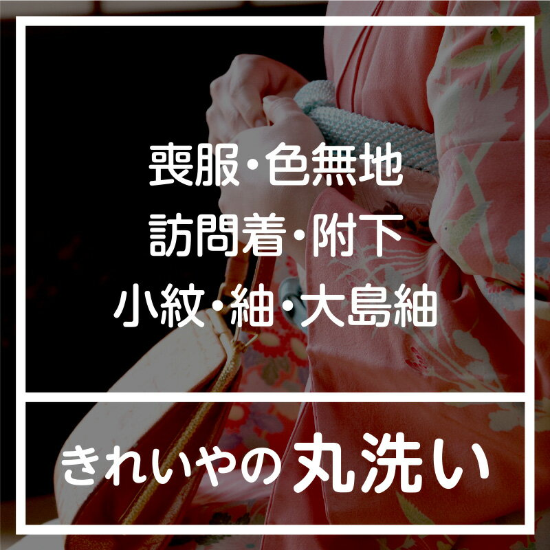 【往復送料無料】着物丸洗いクリーニング・着物類【喪服・色無地・訪問着・附下・小紋・紬・大島紬】