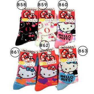 孩子 / 女孩 ☆ 迪士尼 / 動漫襪子 / 你好凱蒂 / 船員短襪 / 襪子