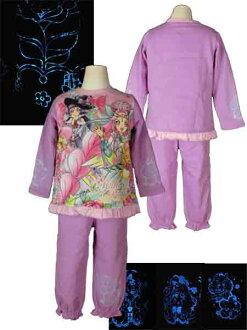 魔術師全蝕病 ★ 發光,閃閃發光改造睡衣 / 睡衣 ★ 回刷睡衣輝光巫婆漂亮的睡衣/教練睡衣和晚安/家居用品 / 長袖睡衣和粉紅 / 紫色-萬代-