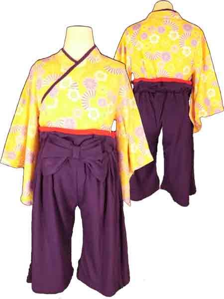 PokkePoche(ポッケポッシュ)女の子用袴(はかま)2点セット女の子袴上下セット(桃の節句/端