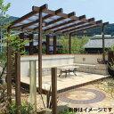 タカショー ポーチガーデン Jポーチ(独立タイプ) 1.5間×6尺 クリア