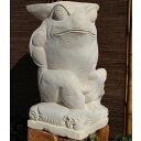 『個人宅配送不可』SIP バリ島 石像 カエル 葉っぱ傘 H600 KAERU-03