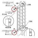 四国化成 クレディフェンスG3型・G6型共有 60:横さんキャップ サイズ共通 60EC 『アルミフェンス 柵』