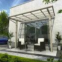 YKK ap 独立テラス屋根(600N/m2) エフルージュグラン ZERO 4間×4尺 ロング柱(H3100) T字構造タイプ 熱線遮断ポリカ 帯・木目カラー
