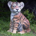 FRP 子タイガーのいたずら / Tiger CuB - Sitting 『動物園オブジェ アニマルオブジェ 店舗・イベント向け』