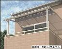 キロスタイルテラス R型屋根 2階用 2間×6尺 熱線遮断ポリカ 積雪20cm対応 ※2階取付金具は別売