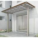四国化成 スマート トップ 基本セット 前柱仕様 延高 間口3020×5尺(1540) LSMTFE-K3115 木調タイプ/熱線吸収ポリカ ※単体購入不可