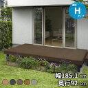YKK ap リウッドデッキ200 Hタイプ 高さ550〜700 1間×3尺 『ウッドデッキ キット 人工木 腐りにくい人工木デッキ』