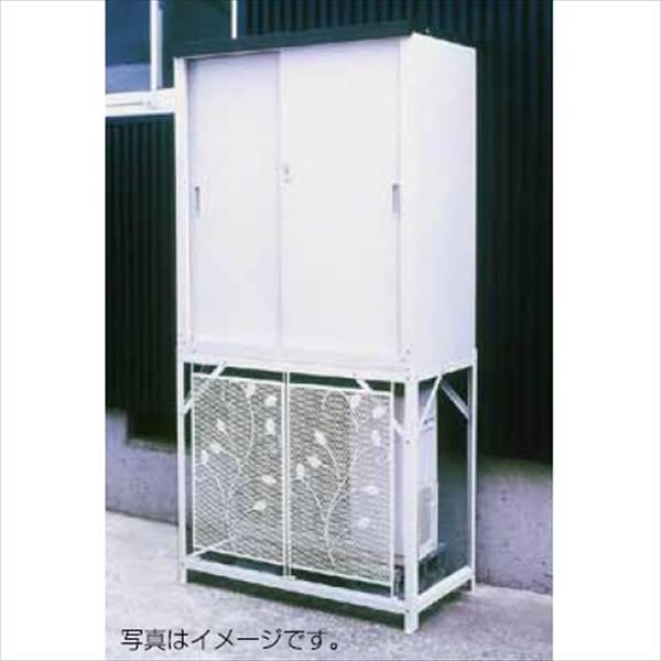 グリーンライフ エアコン室外機カバー:AC-78MM+収納庫:HS-92セット AC-78…...:kiro:10093953