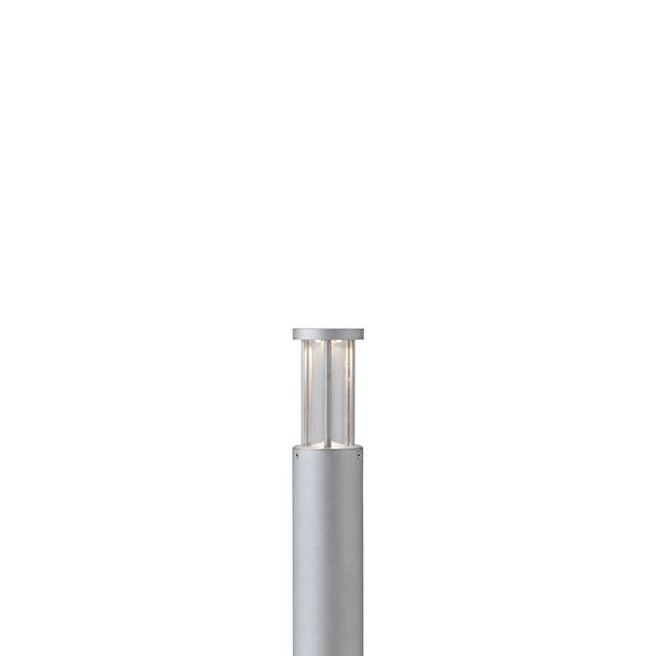 タカショー ポールライト(ローボルト) エクスレッズ ポールライト8型 HBC-D24S ●71504600 ※LED交換不可 【エクステリア照明 ライト】 シルバー/LED色(電球色)