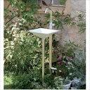 オンリーワン ジラーレW スワンネック 水栓柱(専用蛇口・補助蛇口付属)+手洗器セット   シルバー