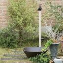 オンリーワン エポカW 水栓柱(専用蛇口・補助蛇口付属)+水鉢セット   バニラ
