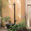 オンリーワン エポカW 水栓柱(専用蛇口・補助蛇口付属)+水鉢セット   マットブラック
