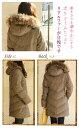 【ダウン80%】【ツイードダウンコート】暖かく上...