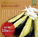 大阪の味をお歳暮で!泉州産水なす漬物【糠漬10個】ギフトに最適な化粧箱入り♪水ナスぬか漬け【水茄子】【漬物】【贈答品】