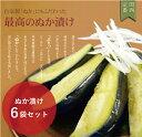 大阪の味をお歳暮で!泉州産水なす漬物【糠漬6個】ギフトに最適な化粧箱入り♪水ナスぬ
