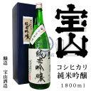コシヒカリ 純米吟醸酒 1,800ml(化粧箱入り)【宝