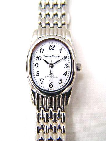 【_包装】 【見やすい時計シリーズ】バレンチノモラディ楕円クォーツ