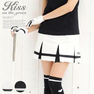キスオンザグリーン スポーティー モノトーンラインスカート スカート