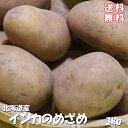 インカのめざめ!3kg(サイズ無選別)【送料無料】北海道産地直送 いんかの目覚め 栗の様な甘いじゃがいも 美味しいジャガイモ※